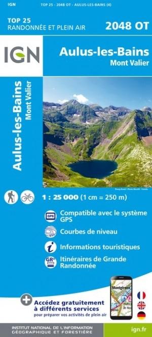 2048OT  Aulus-les-Bains | wandelkaart 1:25.000 9782758542742  IGN TOP 25  Wandelkaarten Franse Pyreneeën