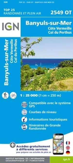 2549OT Banyuls, Cerbère, Port Bou | wandelkaart 1:25.000 9782758542803  IGN IGN 25 Franse Pyreneeën  Wandelkaarten Franse Pyreneeën