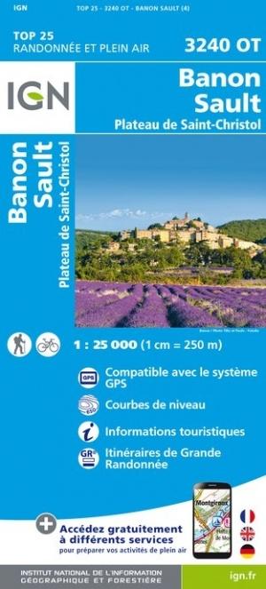 3240OT  Sault, Séderon, Banon | wandelkaart 1:25.000 9782758542841  IGN IGN 25 Provence  Wandelkaarten Provence, Marseille, Camargue
