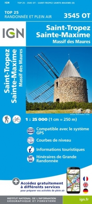 3545OT   St-Tropez, Ste-Maxime | wandelkaart 1:25.000 9782758542858  IGN TOP 25  Wandelkaarten Côte d'Azur
