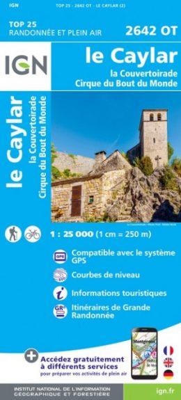 2642OT Le Caylar / La Couvertoirade | wandelkaart 1:25.000 9782758543084  IGN TOP 25  Wandelkaarten Cevennen, Languedoc