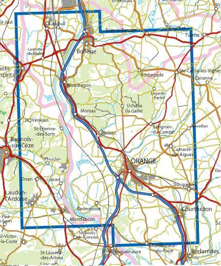 3040OT Orange,Massif d'Uchaux, Bollène   wandelkaart 1:25.000 9782758543220  IGN IGN 25 Provence  Wandelkaarten, Wijnreisgidsen Provence, Marseille, Camargue