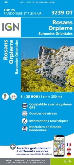 3239OT   Rosans, Orpierre | wandelkaart 1:25.000 9782758543251  IGN IGN 25 Franse Alpen/ zuidhelft  Wandelkaarten Franse Alpen: zuid