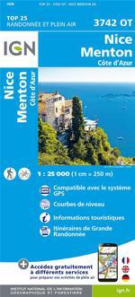 3742OT  Nice, Menton, Monaco | wandelkaart 1:25.000 9782758543367  IGN IGN 25 Côte-d'Azur, Var  Wandelkaarten Côte d'Azur