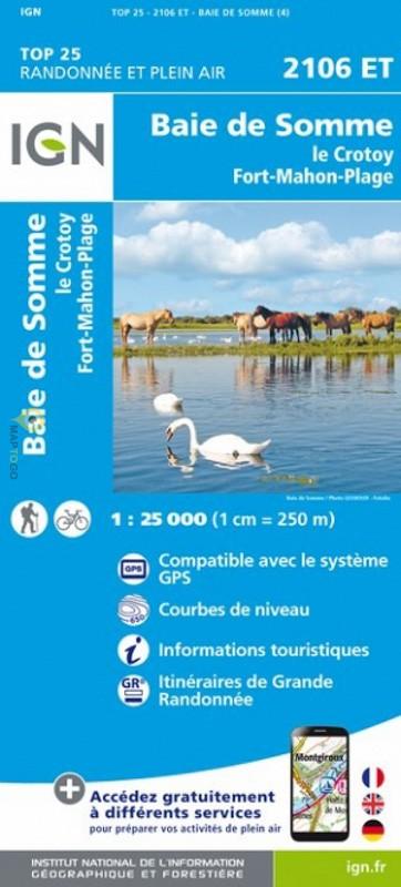 2106ET le Crotoy, Fort-Mahon-Plage | wandelkaart 1:25.000 9782758543381  IGN IGN 25 Picardië & Nord  Wandelkaarten Picardie, Nord