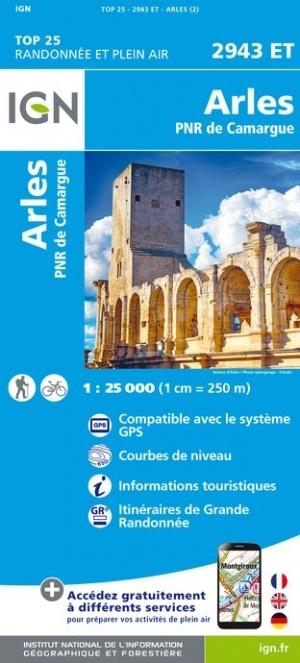 2943ET   Arles | wandelkaart 1:25.000 9782758543473  IGN IGN 25 Provence  Wandelkaarten Provence, Marseille, Camargue
