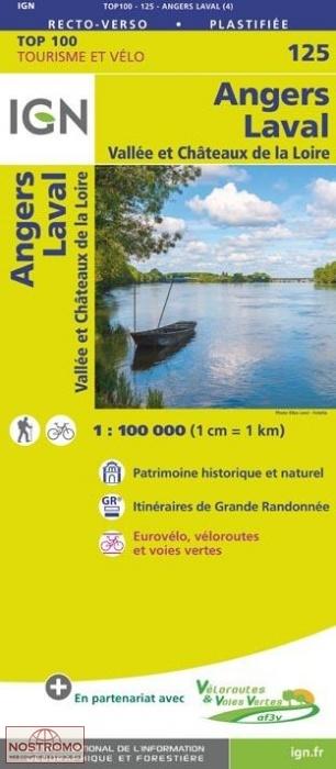 SV-125  Angers, Laval | omgevingskaart / fietskaart 1:100.000 9782758543718  IGN Série Verte 1:100.000  Fietskaarten, Landkaarten en wegenkaarten Loire & Centre