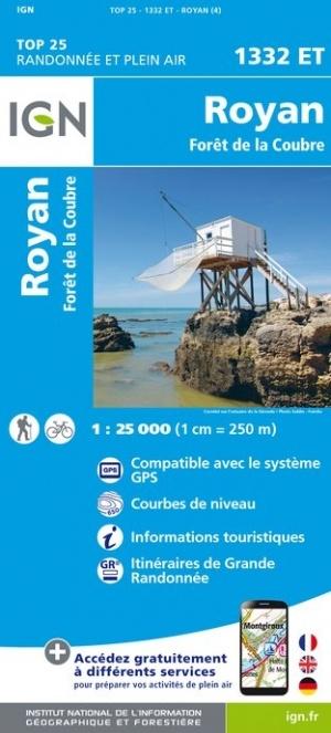 1332ET  Royan, Forêt de la Coubre | wandelkaart 1:25.000 9782758545224  IGN TOP 25  Wandelkaarten Vendée, Charente