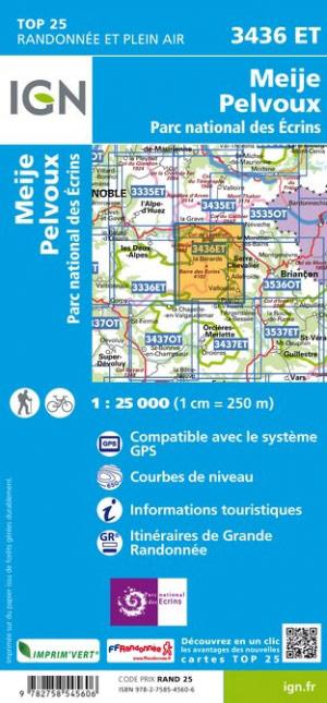 3436ET  Meije, Pelvoux, Vallouise | wandelkaart 1:25.000 9782758545606  IGN TOP 25  Wandelkaarten Franse Alpen: zuid