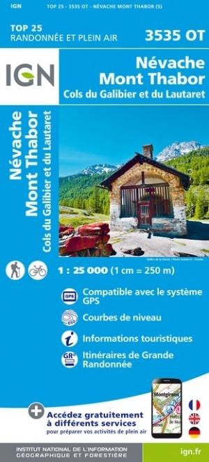 3535OT   Névache, Mont Thabor | wandelkaart 1:25.000 9782758545668  IGN TOP 25  Wandelkaarten Franse Alpen: zuid