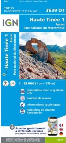 3639OT  Haute Tinée 1, Auron | wandelkaart 1:25.000 9782758545712  IGN IGN 25 Franse Alpen/ zuidhelft  Wandelkaarten Franse Alpen: zuid