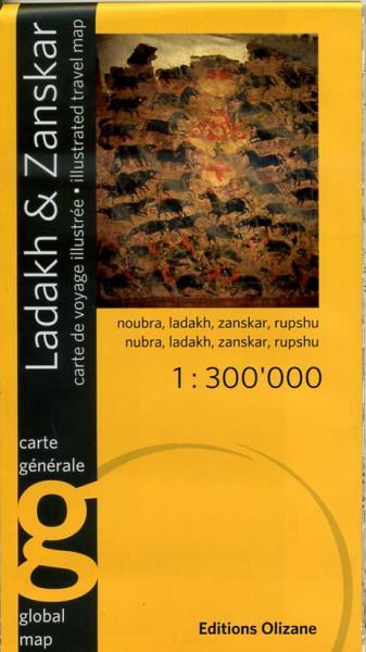 Ladakh & Zanskar 1:300.000 9782880863883  Olizane   Landkaarten en wegenkaarten Indiase Himalaya