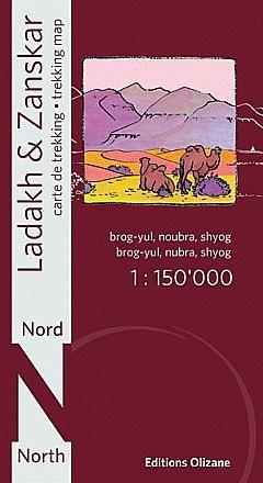 Ladakh & Zanskar North 1:150.000 9782880864125  Olizane   Landkaarten en wegenkaarten Indiase Himalaya