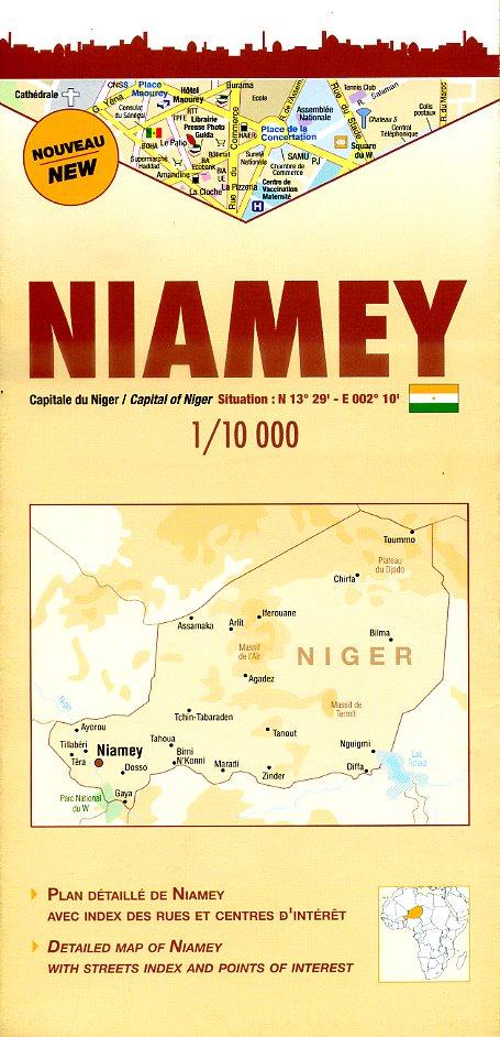 Niamey 1:10.000 9782917495124  Laure Kane Villes en Couleurs  Stadsplattegronden Sahel-landen (Mauretanië, Mali, Niger, Burkina Faso, Tchad, Sudan, Zuid-Sudan)
