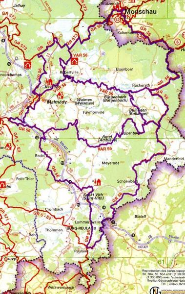 GR-56  Cantons de l'Est (GR56 Oostkantons)   wandelgids 9782930488172  Grote Routepaden Topoguides  Meerdaagse wandelroutes, Wandelgidsen Wallonië (Ardennen)