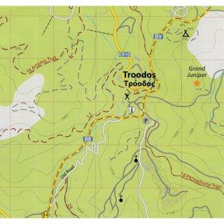 Troodos 1:25.000 9783000470851  Kartographos wandelkaarten Cyprus  Wandelkaarten Cyprus