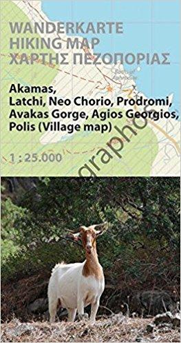 Akamas 1:25.000 9783000513978  Kartographos wandelkaarten Cyprus  Wandelkaarten Cyprus