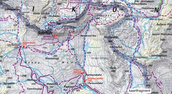 Montafon - Silvretta 1:35.000 9783259007112  Kümmerly & Frey   Wandelkaarten Graubünden, Tessin, Tirol & Vorarlberg