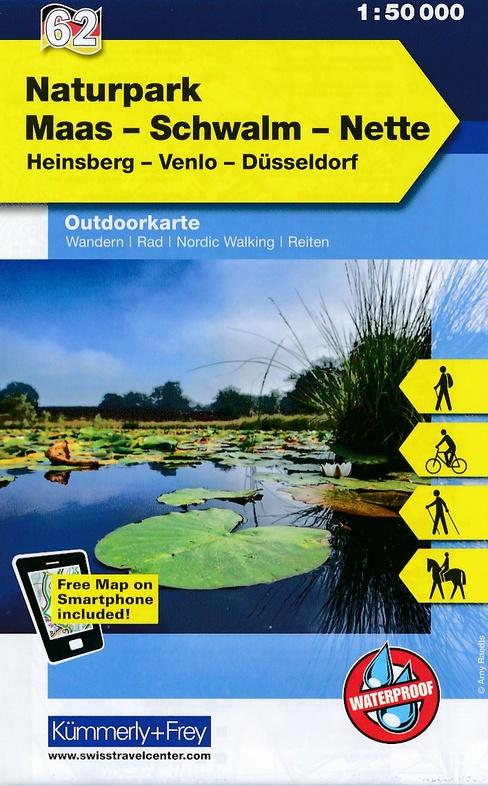 Natuurpark Maas-Schwalm-Nette 1:50.000 9783259007471  Kümmerly & Frey   Fietskaarten, Wandelkaarten Niederrhein
