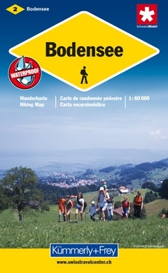KFW-02  Thurgau-Bodensee | wandelkaart / overzichtskaart 9783259008669  Kümmerly & Frey Wandelkaarten Zwitserland  Wandelkaarten Basel, Zürich, Noord-Zwitserland