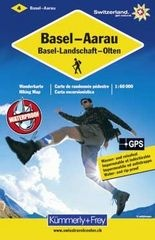 KFW-04  omgeving Basel | wandelkaart / overzichtskaart 9783259008805  Kümmerly & Frey Wandelkaarten Zwitserland  Wandelkaarten Basel, Zürich, Noord-Zwitserland