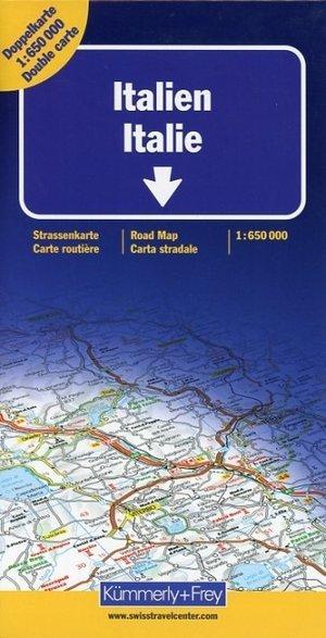 Italië 1:650.000 (dubbelzijdig bedrukt) 9783259011218  Kümmerly & Frey   Landkaarten en wegenkaarten Italië