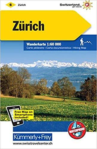 KFW-06 omgeving Zürich | wandelkaart / overzichtskaart 9783259022061  Kümmerly & Frey Wandelkaarten Zwitserland  Wandelkaarten Noordoost- en Centraal Zwitserland