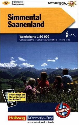 KFW-17 Saanenland-Simmental-Kandertal | wandelkaart / overzichtskaart 9783259022177  Kümmerly & Frey Wandelkaarten Zwitserland  Wandelkaarten Berner Oberland, Basel, Jura, Genève