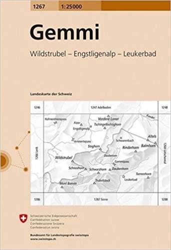 CH-1267 Gemmi, Gemmipass [2018] topografische wandelkaart 9783302012674  Bundesamt / Swisstopo LKS 1:25.000  Wandelkaarten Berner Oberland, Basel, Jura, Genève