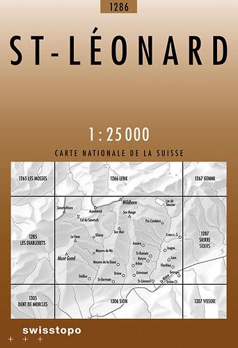CH-1286  Saint-Léonard [2012] topografische wandelkaart 9783302012865  Bundesamt / Swisstopo LKS 1:25.000  Wandelkaarten Wallis
