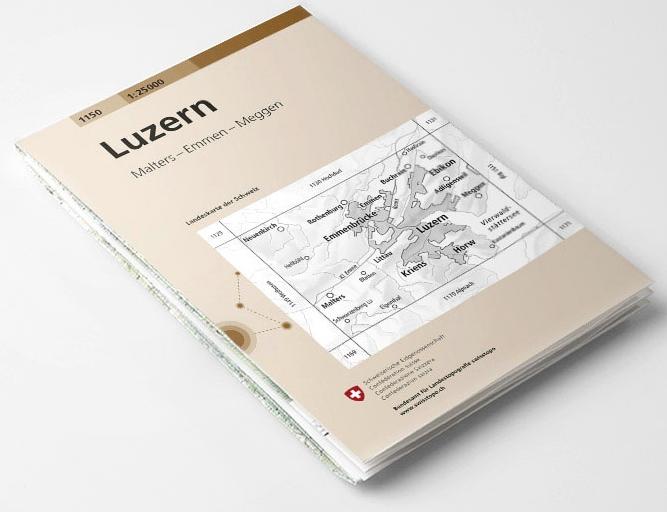 CH-2510  Luzern und Umgebung [2016] topografische wandelkaart 9783302025100  Bundesamt / Swisstopo LKS 1:25.000 Zusammensetzung  Wandelkaarten Noordoost- en Centraal Zwitserland