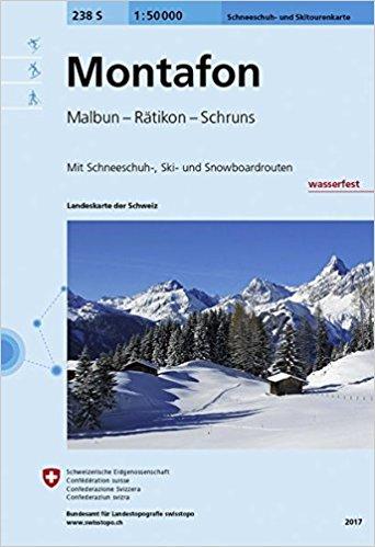 S238  Montafon [2017] 238S 9783302202389  Bundesamt / Swisstopo Skirouten 1:50.000  Wintersport Graubünden, Tessin
