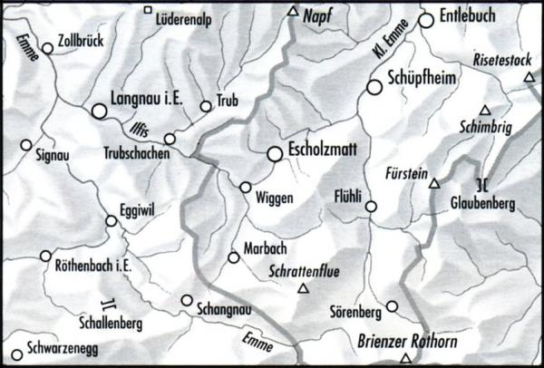 244T Escholzmatt [2003] 9783302302447  Bundesamt / Swisstopo SAW 1:50.000  Wandelkaarten Berner Oberland, Basel, Jura, Genève