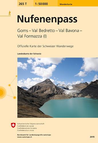 265T Nufenenpass [2015] 9783302302652  Bundesamt / Swisstopo SAW 1:50.000  Wandelkaarten Graubünden, Tessin