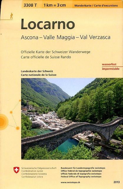3308T Locarno 9783302333083  Bundesamt / Swisstopo Wanderkarten 1:33.333  Wandelkaarten Graubünden, Tessin