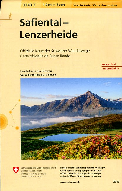 3310T Safiental - Lenzerheide 9783302333106  Bundesamt / Swisstopo Wanderkarten 1:33.333  Wandelkaarten Graubünden, Tessin
