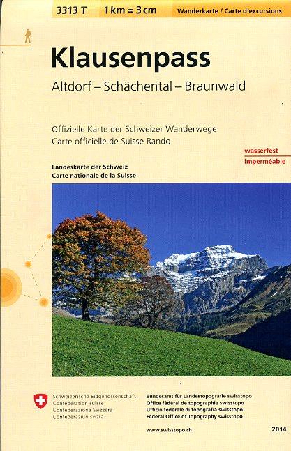 3313T Klausenpass | wandelkaart 1:33.333 9783302333137  Bundesamt / Swisstopo Wanderkarten 1:33.333  Wandelkaarten Midden- en Oost-Zwitserland
