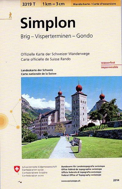 3319T Simplon | wandelkaart 9783302333199  Bundesamt / Swisstopo Wanderkarten 1:33.333  Wandelkaarten Wallis