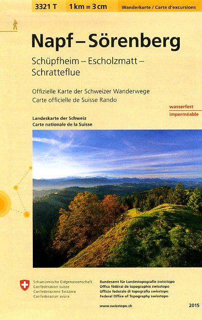 3321T Napf - Sörenberg 9783302333212  Bundesamt / Swisstopo Wanderkarten 1:33.333  Wandelkaarten Noordoost- en Centraal Zwitserland