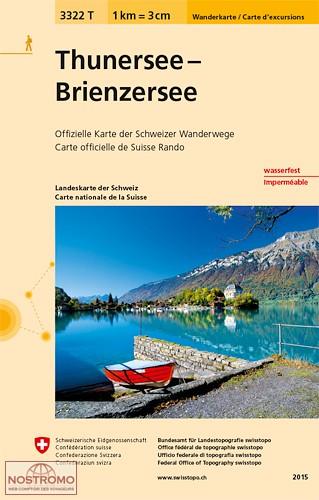 3322T Thunersee, Brienzer See | wandelkaart 1:33.000 9783302333229  Bundesamt / Swisstopo Wanderkarten 1:33.333  Wandelkaarten Berner Oberland, Basel, Jura, Genève
