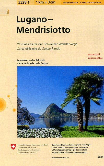 3328T Lugano – Mendrisiotto 9783302333281  Bundesamt / Swisstopo Wanderkarten 1:33.333  Wandelkaarten Graubünden, Tessin