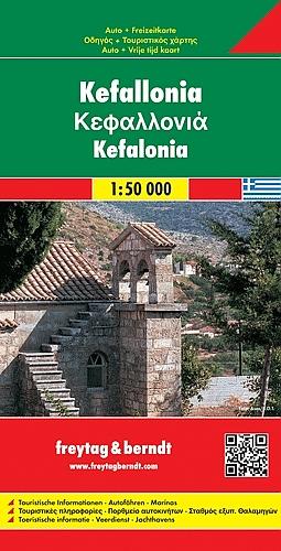 Kefalonia | autokaart, wandelkaart 1: 50.000 9783707900156  Freytag & Berndt   Landkaarten en wegenkaarten, Wandelkaarten Ionische Eilanden (Korfoe, Lefkas, etc.)