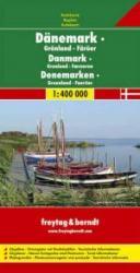 Denemarken | autokaart, wegenkaart 1:400.000 9783707900309  Freytag & Berndt   Landkaarten en wegenkaarten Denemarken, Groenland