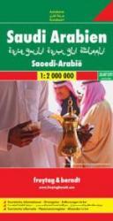 Saudi Arabien | autokaart, wegenkaart Saoedi-Arabië 1:2.000.000 9783707900699  Freytag & Berndt   Landkaarten en wegenkaarten Oman, Abu Dhabi, Dubai, Saudi-Arabië, Jemen