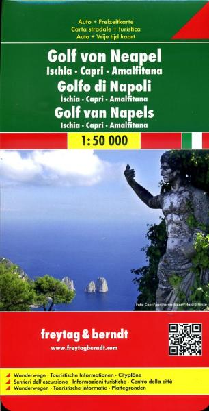 Golf van Napels/ Ischia/ Capri/ Amalfikust 1:50.000 9783707901771  Freytag & Berndt   Wandelkaarten Napels, Amalfi, Campanië