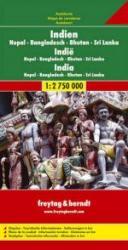 India   autokaart, wegenkaart 1:2.750.000 9783707902655  Freytag & Berndt   Landkaarten en wegenkaarten India