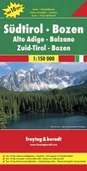 Südtirol, Bozen | autokaart, wegenkaart 1:150.000 9783707902808  Freytag & Berndt Italië Wegenkaarten  Landkaarten en wegenkaarten Zuid-Tirol, Dolomieten