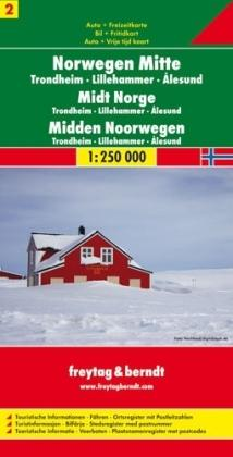 FBN2 Norwegen Mitte | autokaart, wegenkaart 1:250.000 9783707903171  Freytag & Berndt FBN Veikart  Landkaarten en wegenkaarten Zuid-Noorwegen
