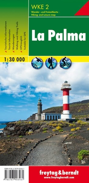 WK-E02  La Palma 1:30.000 9783707903461  Freytag & Berndt Wandelkaarten Spanje  Wandelkaarten La Palma