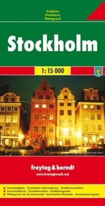 Stockholm 1:15.000 | stadsplattegrond 9783707903508  Freytag & Berndt   Stadsplattegronden Zuid-Zweden